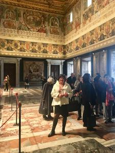Fiona at the Quirinale Palace