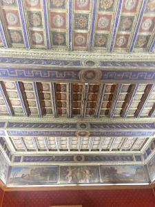 A ceiling in the Palazzo Doria Pamphili at registration and cocktails