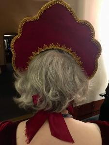 Reverse of the head dress