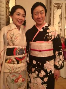 Two of the Japanese in Kimonos for the Gala Dinner