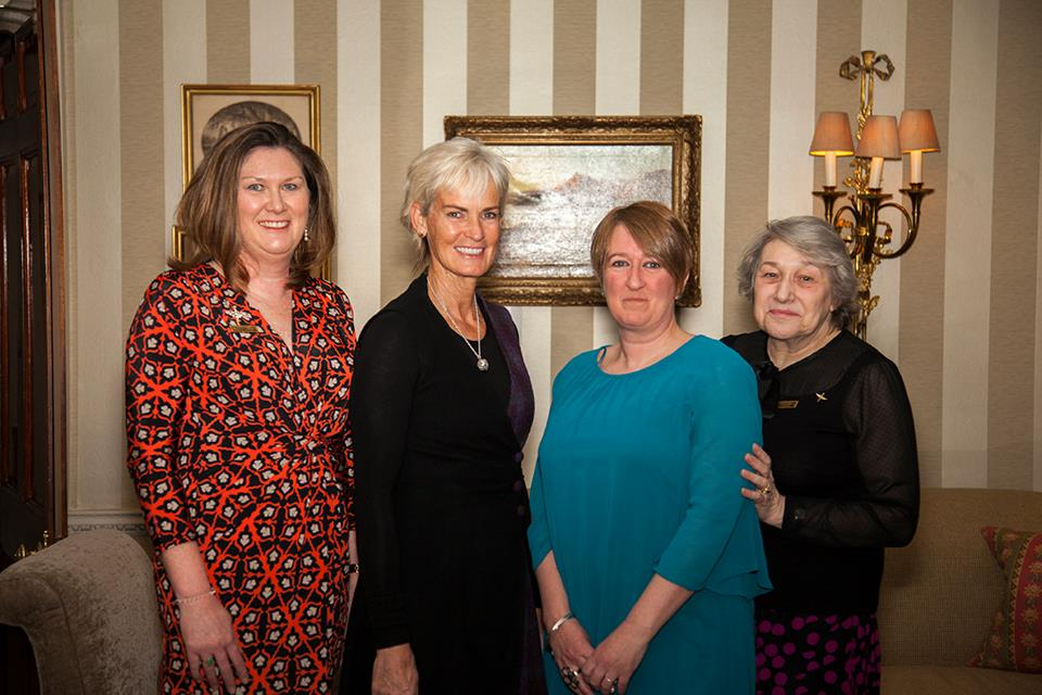 BAWE Scotland committee with Judy Murray