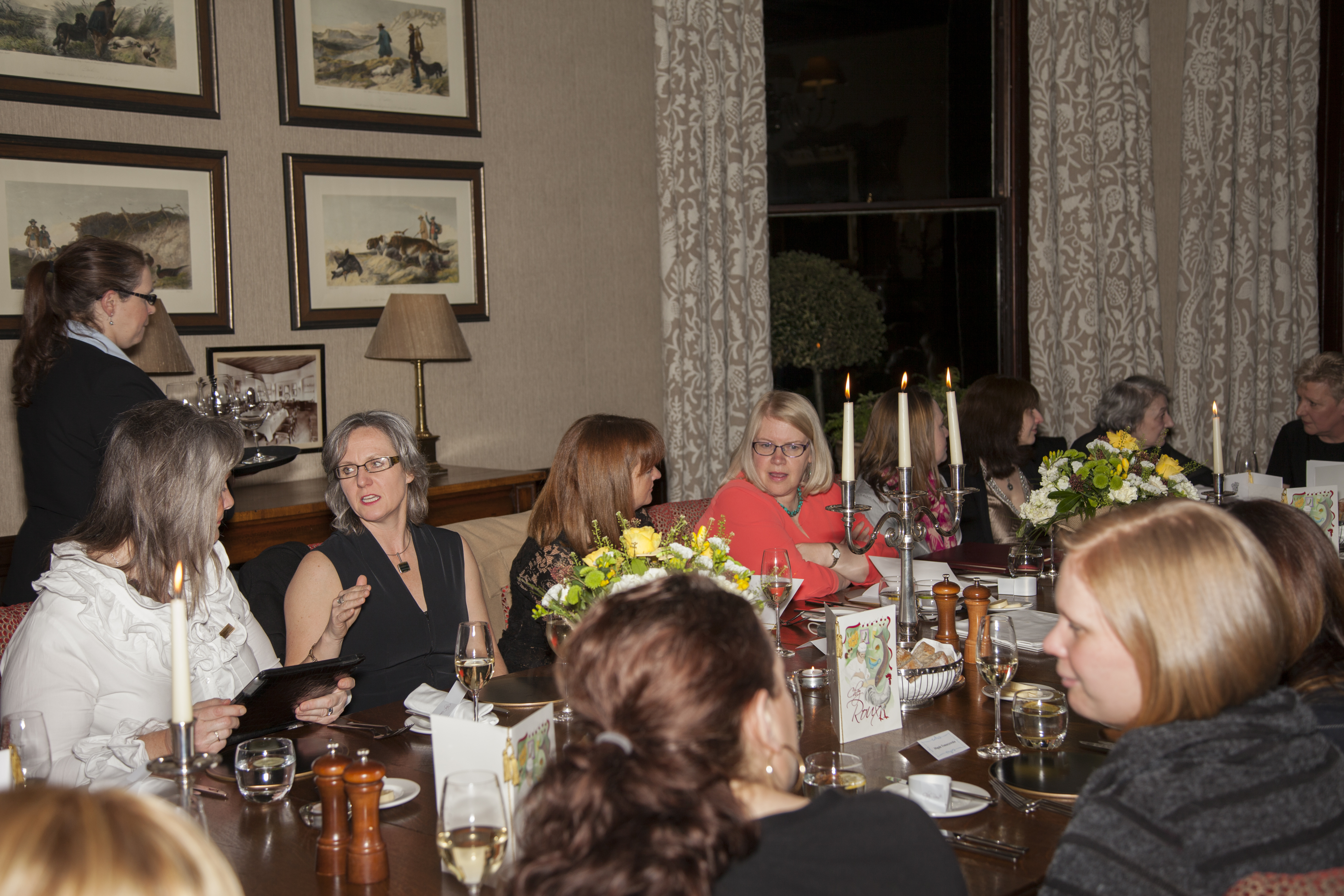 Dinner with Judy Murray at Cromlix