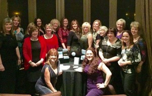 Group photo with carol smillie Dec 2015