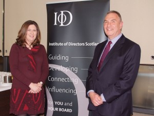 With IOD at Stirling Management School for International Womens Day 100315